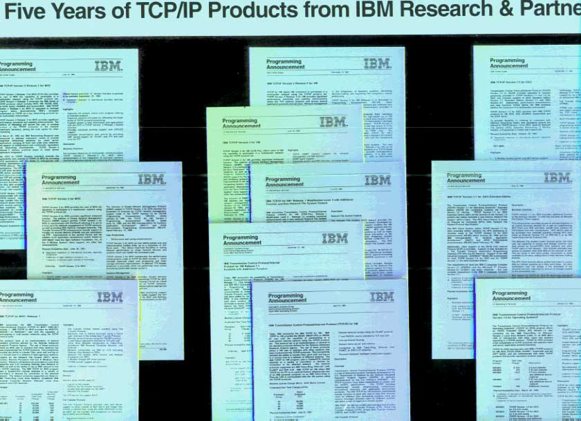 Five Years of TCP/IP Products from IBM Research